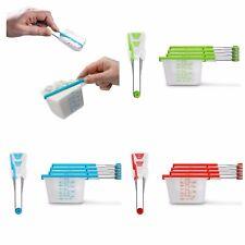 Dreamfarm Levups & Levoons Self-Leveling Measuring Cups-Spoons Set-Choose Color