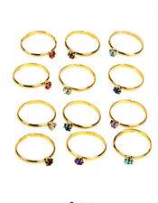Girls Kids Teens Crystal Birthstone Ring Jewelry Set- Choose Month Get 3 Rings