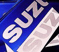 Suzuki SILVER METALLIC 5in 12.7cm decals stickers gsx r 750 1000 600 tl sv rm 85