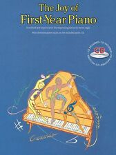 The Joy Of First Year Piano Learn to Play BEGINNER EASY Lesson Music Book & CD