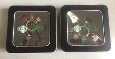 Starbucks Thailand Siren Apron Coffee Cup Keychain / Key Tag Set of 2 -No Card