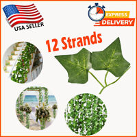 Artificial Hanging Fake Plant Foliage Flowers Ivy Vine Garland Leaves Home Decor