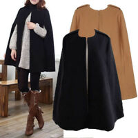 Warm Winter Women Coat Cape Shawl Outwear Fashion Overcoat Size S-XL