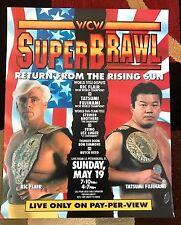 WCW SuperBrawl 1991 Poster 16x20 Ric Flair WWE WWF