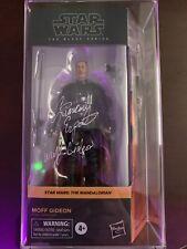 Star Wars The Black Series Mandalorian Moff Gideon Action Figure NIB Autog