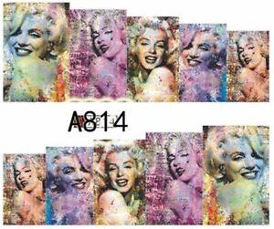 Water Transfer Watermark Art Nails Decal Sticker Marilyn Monroe A814