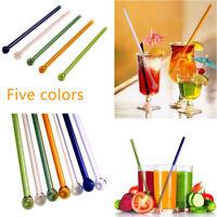 Restaurant Drink Straw Reusable Bent Glass Straw Wedding Birthday Party Drink
