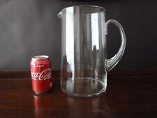 Antique Glass Jug of Large Proportions, Hollow Handle h26,6cm (4 litres)