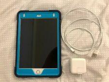 New listing Apple iPad Mini 4 A1538 Silver w/ New Case 128 Gb WiFi Factory Reset
