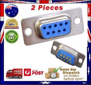 2 Pcs DB9 RS232 Female Serial Port Connectors/9 pin - Solder Type