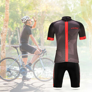 Lixada Men's Cycling Clothes Set Quick Dry Short Sleeve Bicycle Jersey M7R1