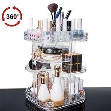 360 Degree Rotating Acrylic Makeup Organizer Cosmetics Storage Rack US Stock