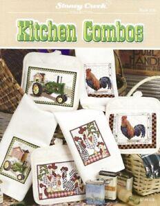 Kitchen Combos Cross Stitch Leaflet - Stoney Creek- Chickens, Geckos, Fish, Crab