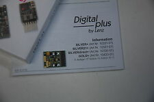 Lenz 10321-01 DCC Digital Decoder Silver 21+ NEW