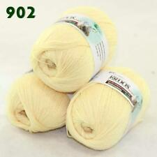 Sale Lot of 3 Balls x50gr LACE Soft Acrylic Wool Cashmere hand knitting Yarn 902