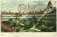 1900's 1909 Coronado Hotel Interior Court View San Diego California CA Postcard
