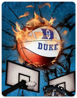 Duke University Basketball Flames off the backboards type MAGNET