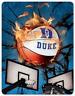 Duke University Basketball Flames off the backboards type MAGNET