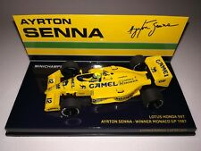 "Minichamps F1 Lotus Honda 99T Ayrton Senna 1/43 Winner Monaco GP 1987 ""Camel"""