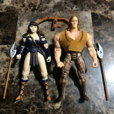 ToyBiz Hercules & Xena 1995 & Action Figures With Weapons And Shield Lot