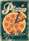 Pizza By The Slice Vintage Art Print Poster 12x18 inch