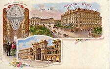 MILANO PALACE GALLERIA VITTORIO EMANUELE CARTOLINA NON VIAGGIATA