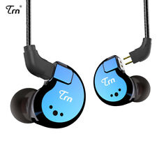 TRN V80 2BA+2DD Quad Driver Hybrid  In Ear Earphone With 2 Pin Detachable Cable