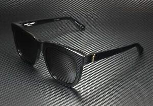 SAINT LAURENT YSL M24 K 005 Rectangular Square Black 55 mm Unisex Sunglasses