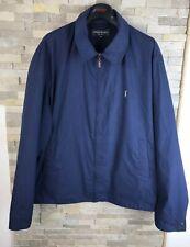 YSL yves Saint Laurent Mens Size XXL 2XL navy Harrington Bomber Jacket Coat
