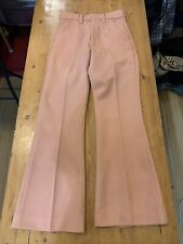 Vintage 1970s Farah Brown Bootcut Leisure Slacks 70s Vtg Pants Disco