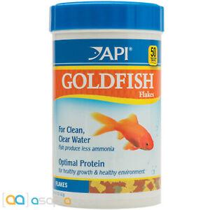 API Goldfish Flakes 5.7oz Fish Food Flakes Formulated for All Goldfish Breeds