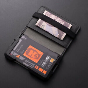 D03 Dapper Bifold EDC Wallet New Slim Minimalist Metal wallet Rfid Blocking