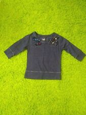 """Girls Justice """"believe in yourself"""" Blue Long Sleeve Shirt with Bows Size 8"""