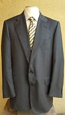 HICKEY-FREEMAN- LORO PIANA Sartorial Men's Black Wool 2 Btn Sport Jacket 42L USA