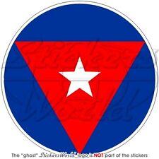 Cuba CUBAN Air Force roundel 100mm Vinyl Sticker, Decal
