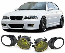 YELLOW FOG LIGHTS FOR BMW E46 3 SERIES M3 & E39 5 SERIES M5 M SPORT BUMPER
