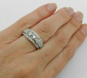 4.50Ct Round Cut Diamond Engagement Wedding Band Ring In 14k White Gold Finish