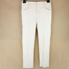 Thomas Rath Semi Couture Women Pants 36 Beige Cotton Chino Cloth Pants NP298 NEW