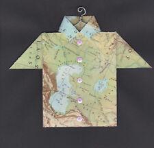 Origami Map Shirt Caspian Sea, Aral Sea, Volgograd, Kazakhstan, Tehran, Iran