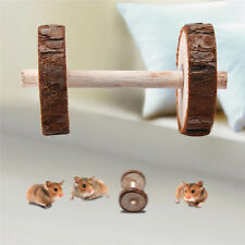 5 * 9 cm Hamsters Rat Rabbit Dogs Pet Chew Play Wood Toy Dumbell Unicycle Roller