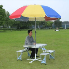 Foldable Picnic Table for camping & Umbrella