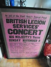 More details for earl haigs appeal fund 1942 original theatre poster 3x2 feet frame