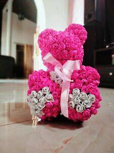 Artificial Flower Rose Bear Doll Valentine Day Birthday Gift Wedding Décor
