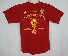 Adidas Spain Campeones Del Mundo 2010 FIFA World Cup South Africa Red Shirt sz S