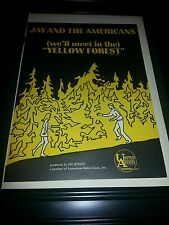 Jay and The Americans Yellow Forrest Rare Original Promo Poster Ad Framed!