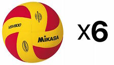 Mikasa Sports VSV Series Squish Outdoor Volleyball, Red & Yellow (Pack of 6)