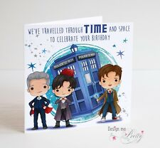 DOCTOR WHO PERSONALISED BIRTHDAY CARD - DALEK Timelords DR WHO