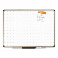 Quartet Prestige Total Erase Whiteboard 48 x 36 White Surface Euro Titanium
