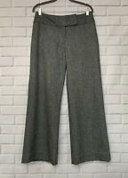 WOMYN Wide Leg Women's Dressy Pants 6 Size Lined Gray Zipper