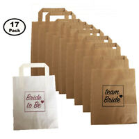 17 PACK HEN PARTY BAGS PAPER TEAM BRIDE & BRIDE TO BE GOODY FAVOUR BAG NIGHT DO